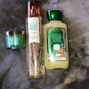 Bath & Body Works Vanilla Bean Noel set